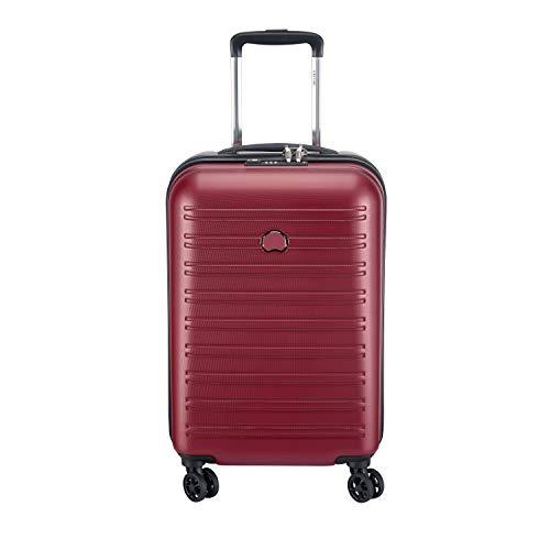 Rouge 42.9L DELSEY PARIS Valise cabine rigide /à double roues et serrure TSA int/égr/ée SEGUR 2.0 55cm
