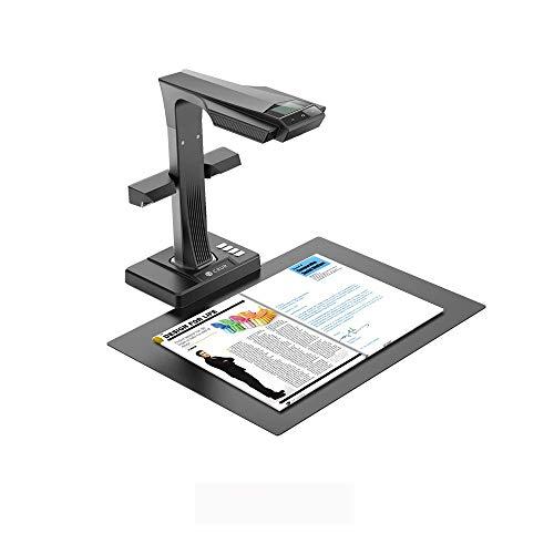 CZUR ET16 Plus Scanner de Documents de Livre Compact et Portable pour Window et Mac,OCR Intelligent Fonction,Convertit Les Documents en PDF,Word,Tiff,Excel,Compatible avec Taille A3 A4,Noir
