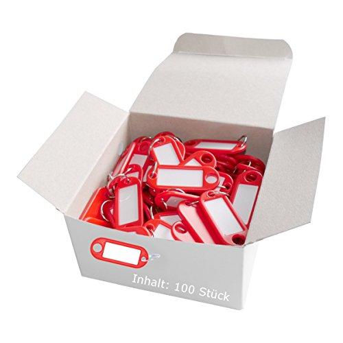 Helix Lot de 100 porte-clés Rouge