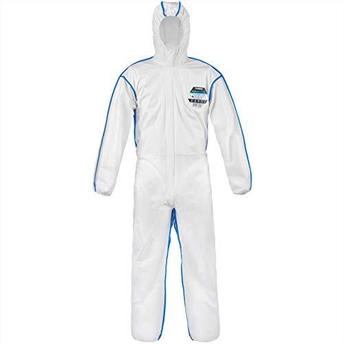 Lakeland EMNC428 MicroMax NS Cool Suit CE type 5 et 6 Combinaison de protection, taille 3 X L, Blanc (lot de 25) (3x L)