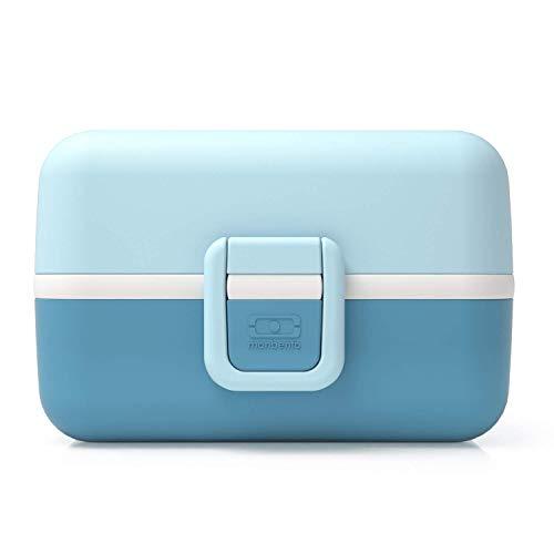 monbento - MB Tresor Bleu Iceberg Lunch Box Enfant - Boite bento Repas ou goûter 3 Compartiments - sans BPA - Durable et sûre
