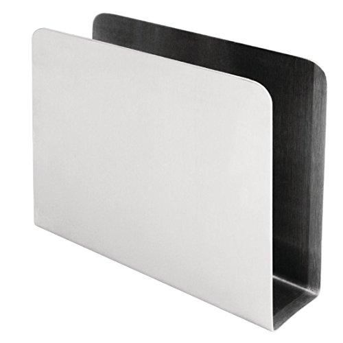NISBETS CL337 Porte-serviettes carré en acier inoxydable 120 x 150 x 40 mm