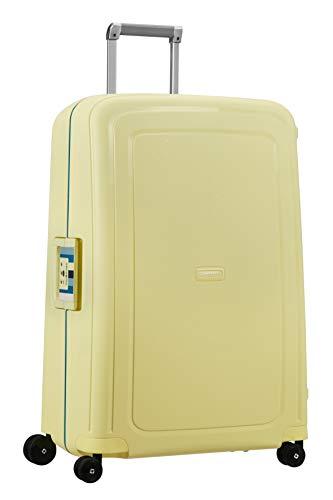 Samsonite S'Cure - Spinner L Valise,75 cm,102 L,Jaune (Pastel Yellow Stripes)