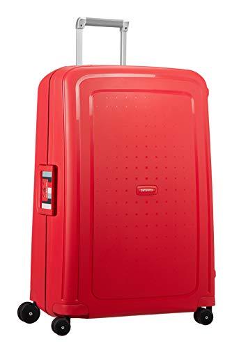 Samsonite S'Cure - Spinner L Valise,75 cm,102 L,Rouge (Capri Red Stripes)