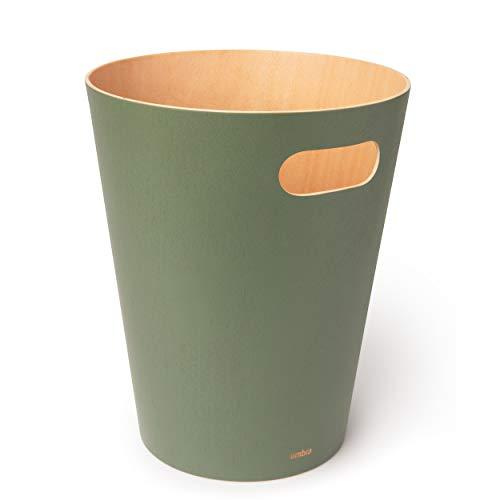 Umbra WOODROW CAN 7.5L(2G) SPRUCE, BOIS DE GUGER, Epicea, 27.94 x 22.9 x 22.9 cm (Vert)