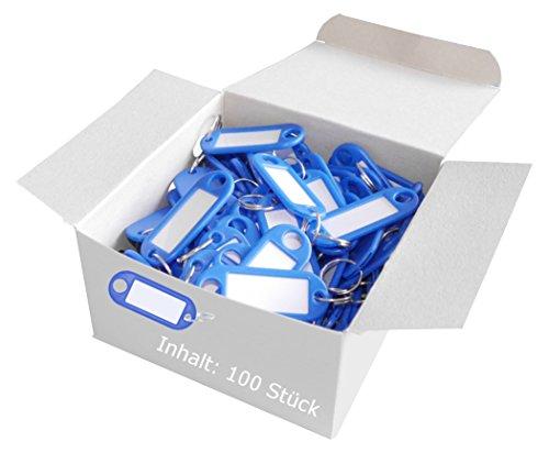 Wedo 262801800 Porte-clés plastique (Lot de 100 bleu)