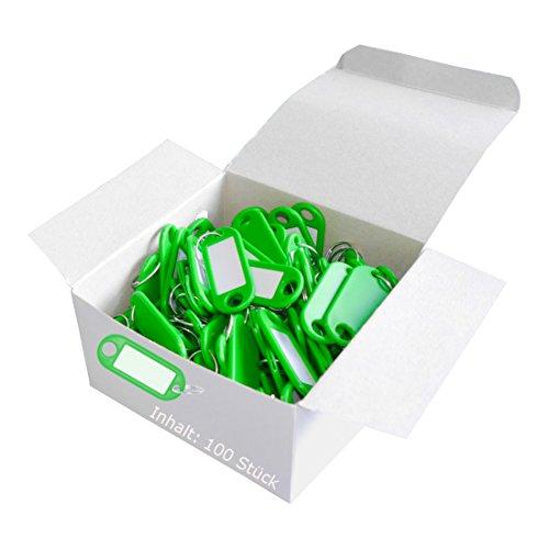 Wedo 262801800 Porte-clés plastique (Lot de 100 vert)
