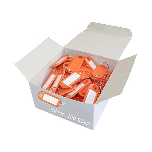 Wedo 262801800 Porte-clés plastique (Lot de 100 Orange)